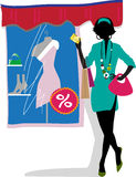 Glam Shopping Girl Stock Image