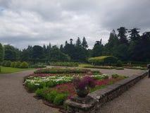 Glamis城堡庭院 免版税库存照片
