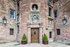 Glamis,英国- 2014年8月17日:Glamis城堡入口  库存图片