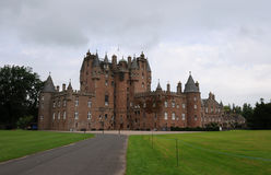 Glamis Castle front approach Royalty Free Stock Images