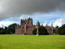 Glamis Castle, Scotland. Glamis Castle with cloudy sky in Scotland Stock Image