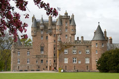 Glamis Castle in Scotland stock image