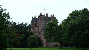 Glamis Castle, Scotland stock footage
