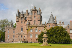 Glamis castle, UK. Glamis Castle is situated beside the village of Glamis in Angus, Scotland Stock Photo