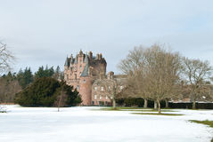 Glamis Castle in winter Stock Images