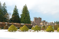 Glamis Castle in winter Royalty Free Stock Images