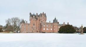 Glamis-Schloss im Winter stockbild