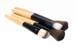 Glammer time - four beautiful brushes for make up Stock Photography