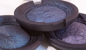 Glammer time - tree beautiful eye shadow colors - make up Royalty Free Stock Image