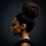Glamorös afrikansk kvinna Arkivbild