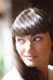 Glamorös brunett  fotografering för bildbyråer