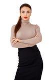 Glamorös brunettlady Arkivbild