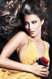 glamorös kvinna Royaltyfria Bilder