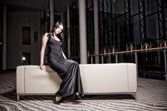 glamorös kvinna Arkivfoton