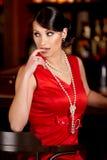 glamorös ladypärla för pärlor Fotografering för Bildbyråer