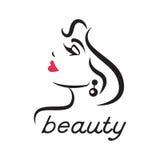 Glamorös logo för en skönhetsalong Royaltyfri Fotografi