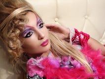 glamorös makeup Royaltyfri Fotografi