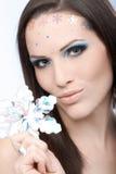 Glamorös makeup på ung skönhet royaltyfri bild