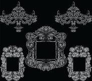 Glamorös Rich Baroque Rococo Furniture uppsättning Royaltyfri Foto