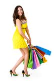 glamorös shoppare Arkivfoton