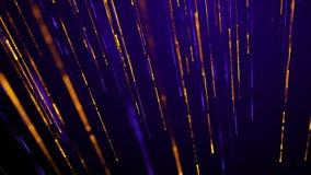Glamorös skenlinje och partiklar på ett djupt - purpurfärgad bakgrund arkivfilmer