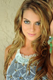 Glamor blond girl posing pretty outside wearing designers lingerie Stock Images
