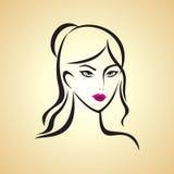 Glamor girl. On light background Stock Images
