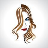 Glamor girl. With brown hair Stock Image