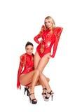 Glamor go-go dancers posing Stock Image
