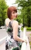 Glamor model posing in the city Stock Images