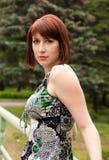 Glamor model posing in the city Stock Image