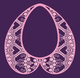 Glamor rich necklace female with pink precious stones, fashion print t-shirt shine from brilliant stones Royalty Free Stock Image