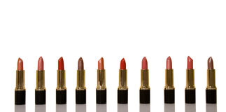 Glamor shiny lipsticks Royalty Free Stock Photo