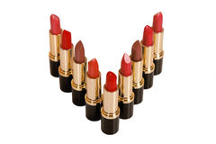 Glamor shiny lipsticks Royalty Free Stock Images