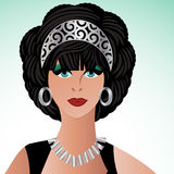 Glamor woman vector illustration