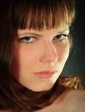 Glamor woman dark face portrait Stock Photo