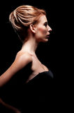 Glamor woman with hairstyle Royalty Free Stock Images