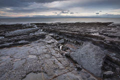 Glamorgan-Küstenlinie Stockbild