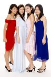 Glamorous #4. Four young women in evening wear Stock Photo