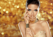 Glamorous beauty fashion girl portrait. Beautiful Young Woman ov Stock Image