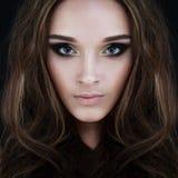 Glamorous Beauty. Perfect Face Stock Photo