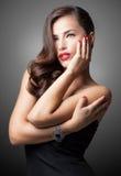 Glamorous Beauty. Portrait of a beautiful glamorous women posing Stock Images