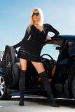 Glamorous blond babe Stock Images