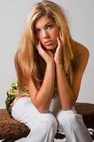 Glamorous blond woman Royalty Free Stock Photo