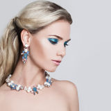 Glamorous Blonde Woman Stock Images