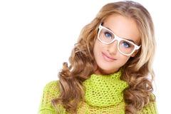 Glamorous blue eyed blond woman Stock Images