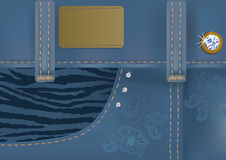 Glamorous blue jeans with label. Illustration of glamorous blue jeans with label.EPS 8 Stock Images