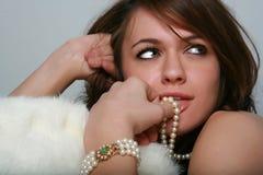 Glamorous Brunette Stock Photography