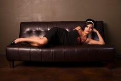 Glamorous brunette. Stock Photography