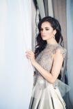Glamorous Brunette Fashion Model Stock Images